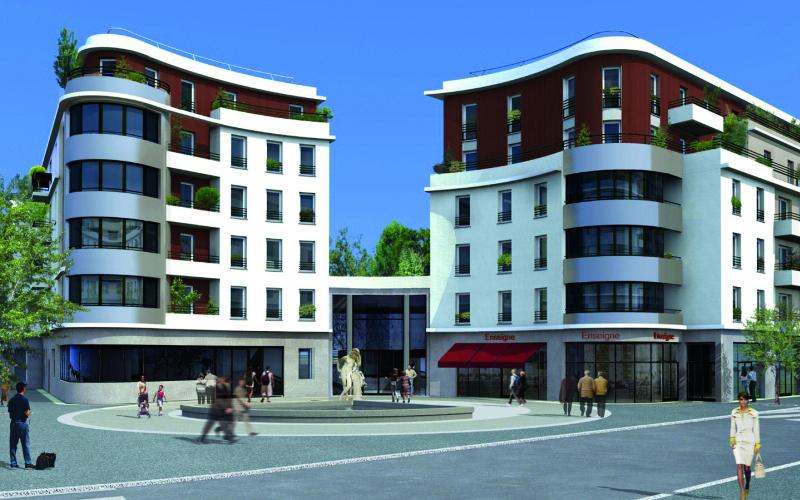 Coeur de ville quincy sous s nart for Appart hotel quincy sous senart